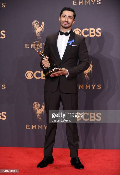 Actor Riz Ahmed poses in the press room at the 69th annual Primetime Emmy Awards at Microsoft Theater on September 17 2017 in Los Angeles California