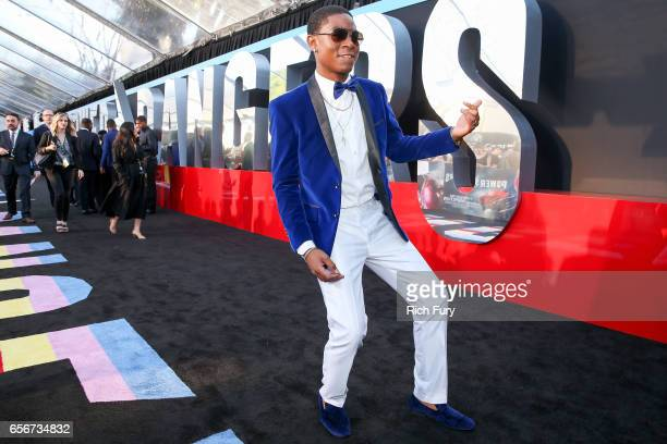 Actor RJ Cyler arrives at the premiere of Lionsgate's 'Power Rangers' at the Westwood Village Theatre on March 22 2017 in Westwood California