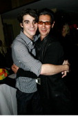 Actor RJ Mitte and Anthony Sartino attend the Sunset Marquis Hotel 50th Anniversary Birthday Bash at Sunset Marquis Hotel Villas on November 16 2013...