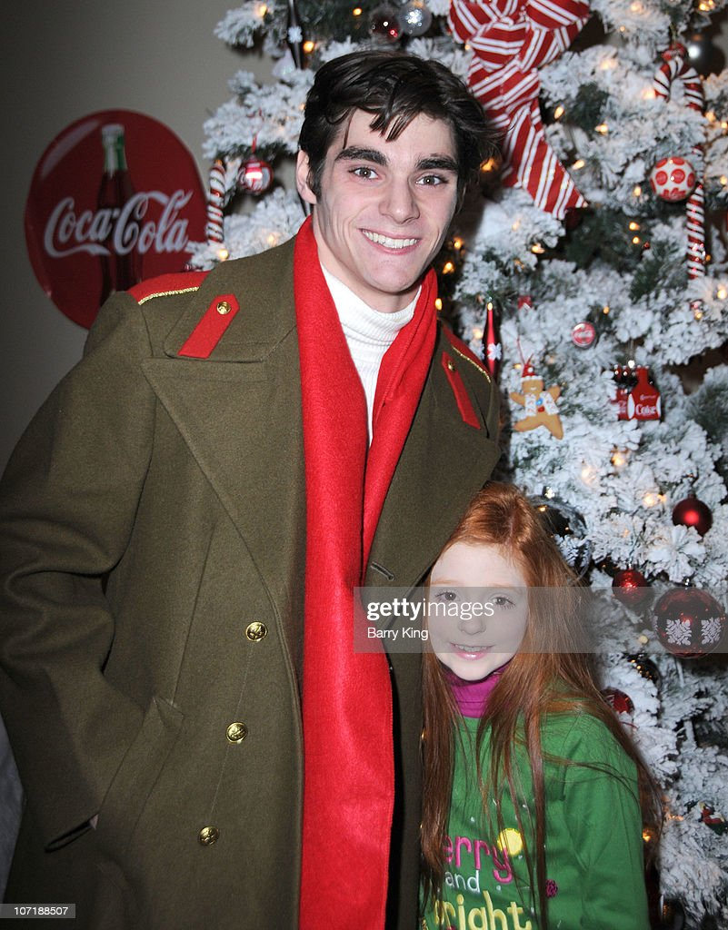 Actor RJ Mitte and sister Lacianne Carriere attend Venice Magazine and Coca Cola's Parade Viewing Party at the Roosevelt Hotel on November 28, 2010 in Hollywood, California.