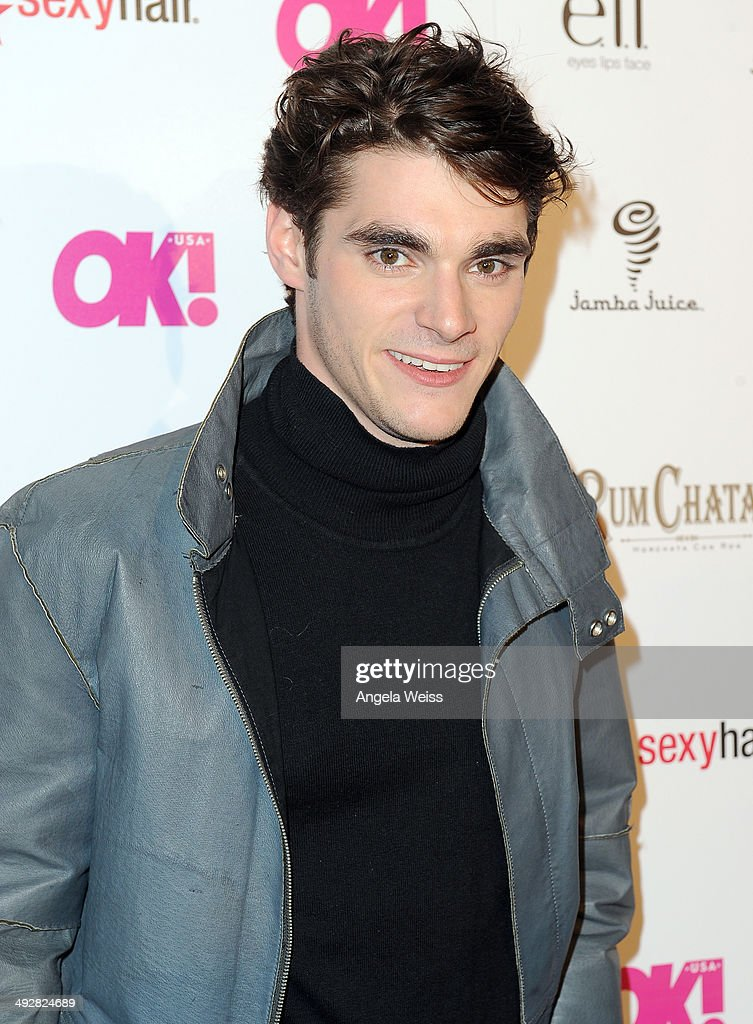 Actor <a gi-track='captionPersonalityLinkClicked' href=/galleries/search?phrase=RJ+Mitte&family=editorial&specificpeople=4542119 ng-click='$event.stopPropagation()'>RJ Mitte</a> attends OK Magazine's So Sexy L.A. Event at LURE on May 21, 2014 in Los Angeles, California.