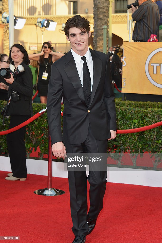 Actor RJ Mitte attends the 20th Annual Screen Actors Guild Awards at The Shrine Auditorium on January 18 2014 in Los Angeles California