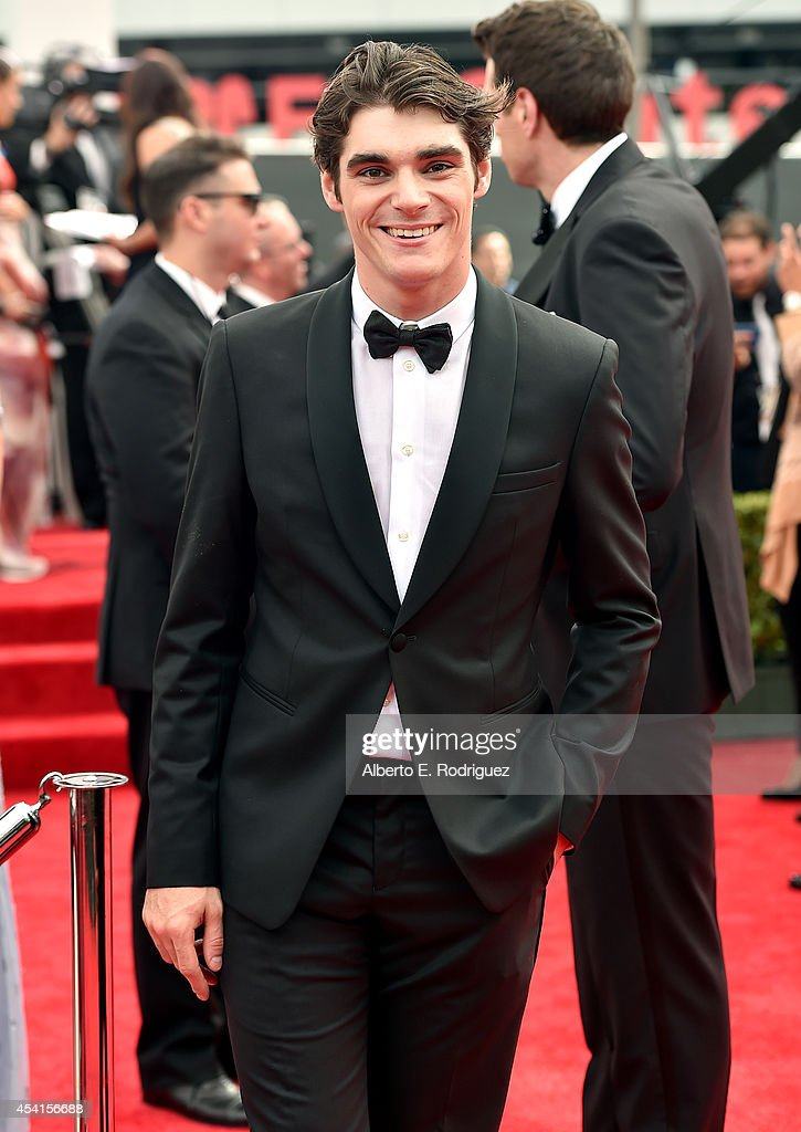 Actor RJ Mitte attends the 66th Annual Primetime Emmy Awards held at the Nokia Theatre LA Live on August 25 2014 in Los Angeles California