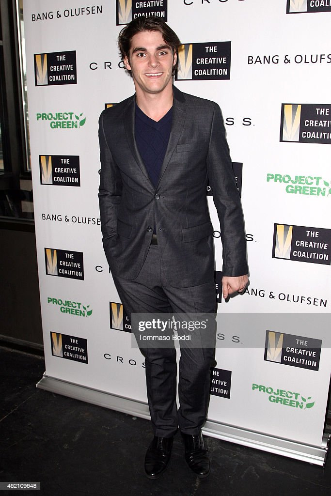 Actor RJ Mitte attends the #BePeerless125 Creative Coalition's Teachers Making A Difference Luncheon at the Sundance Film Festival on January 24 2015...