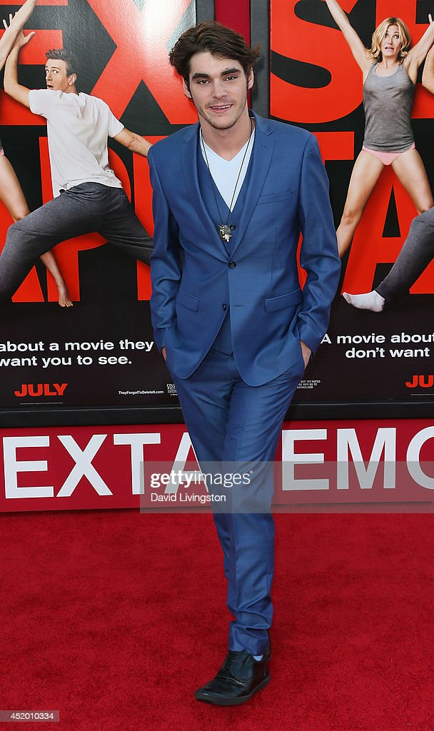 Actor RJ Mitte attends the premiere of Columbia Pictures' 'Sex Tape' at the Regency Village Theatre on July 10, 2014 in Westwood, California.