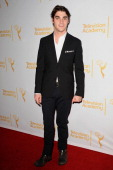 Actor RJ Mitte attends the Television Academy's performers peer group celebrating the 66th Emmy Awards at Montage Beverly Hills on July 28 2014 in...