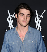 Actor RJ Mitte attends the Yves Saint Laurent Beauty event at Gibson Brands Sunset on May 18 2016 in Los Angeles California