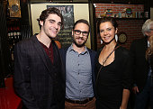 Actor RJ Mitte director David Michael Conley and actress Paloma Kwiatkowski attend the premiere of FilmBuff's 'Who's Driving Doug' cocktail reception...