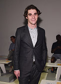 Actor RJ Mitte poses for a picture at the Parke Ronen mens fashion show at New York Fashion Week Men's S/S 2016at Skylight Clarkson Sq on July 16...