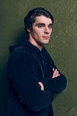 Actor RJ Mitte poses for a portrait at the Village at the Lift Presented by McDonald's McCafe during the 2015 Sundance Film Festival on January 26...