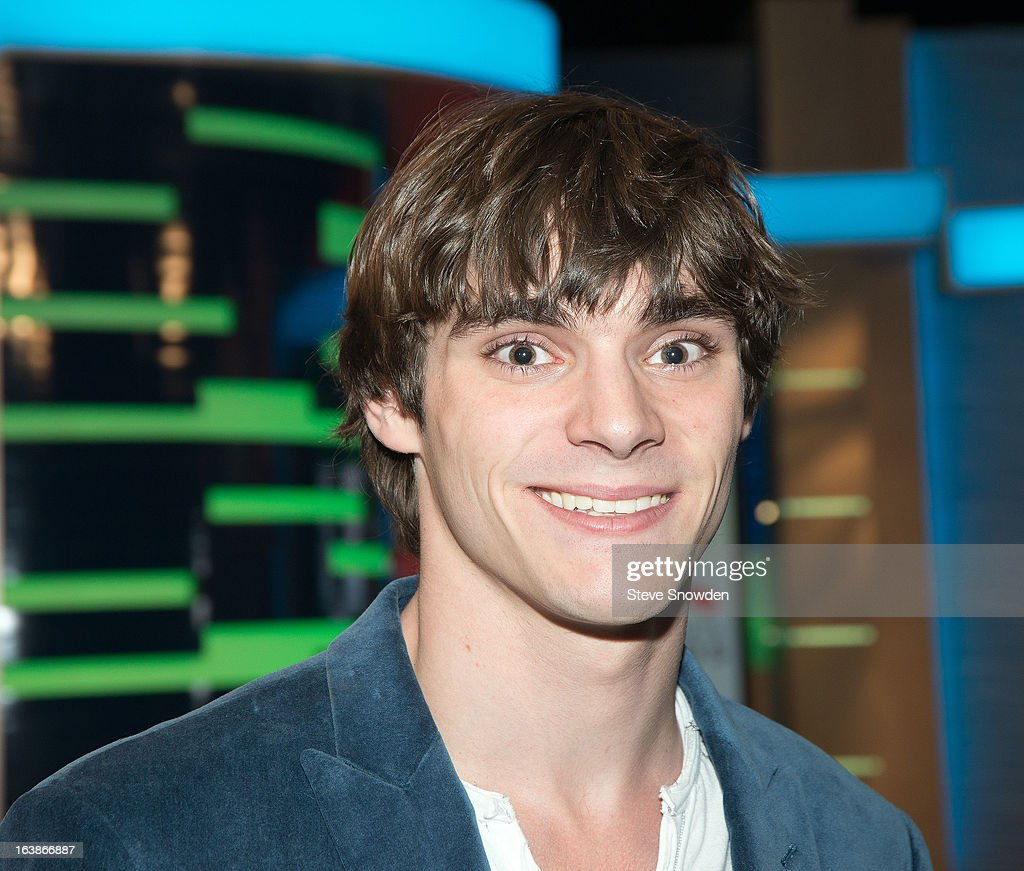 Actor <a gi-track='captionPersonalityLinkClicked' href=/galleries/search?phrase=RJ+Mitte&family=editorial&specificpeople=4542119 ng-click='$event.stopPropagation()'>RJ Mitte</a> poses prior to participating in a tribute during the ABQ Studios And Youth Development Inc. Honor The Cast Of 'Breaking Bad' on at Albuquerque Studios on March 16, 2013 in Albuquerque, New Mexico.