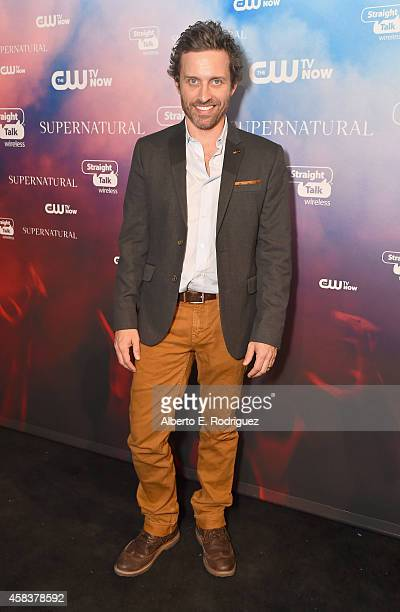Actor Rob Benedict attends the CW's Fan Party to Celebrate the 200th episode of 'Supernatural' on November 3 2014 in Los Angeles California