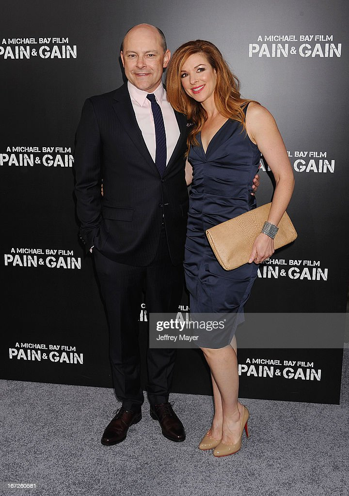 Actor Rob Corddry and Sandra Corddry attend the 'Pain & Gain' premiere held at TCL Chinese Theatre on April 22, 2013 in Hollywood, California.