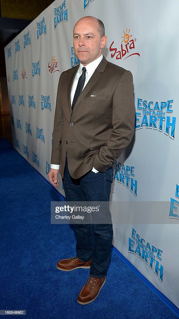 Actor Rob Corddry attends 'Escape From Planet Earth' premiere presented by The Weinstein Company in partnership with Sabra at Mann Chinese 6 on February 2, 2013 in Los Angeles, California.
