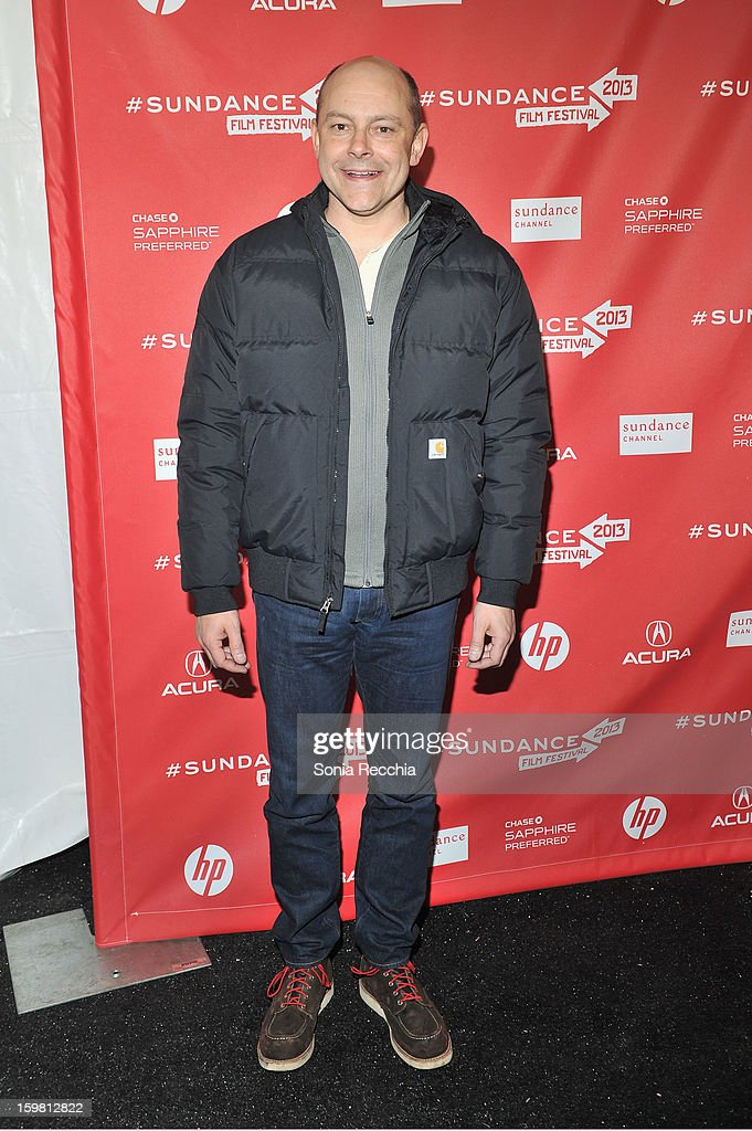 Actor <a gi-track='captionPersonalityLinkClicked' href=/galleries/search?phrase=Rob+Corddry&family=editorial&specificpeople=583934 ng-click='$event.stopPropagation()'>Rob Corddry</a> attends the 'Hell Baby' premiere at Library Center Theater during the 2013 Sundance Film Festival on January 20, 2013 in Park City, Utah.