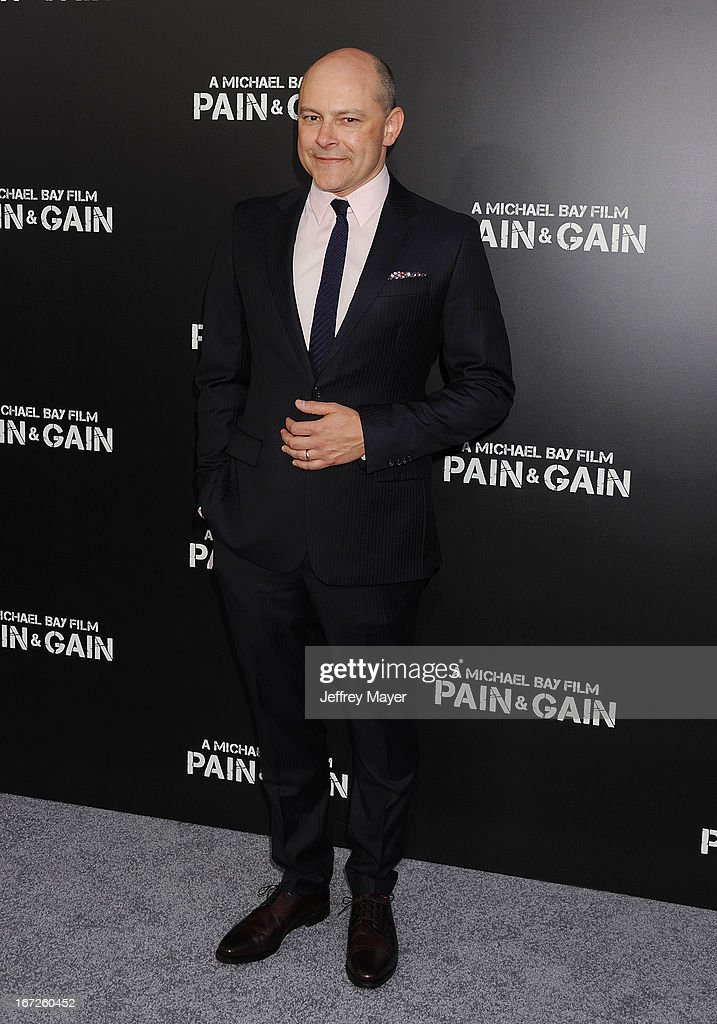 Actor Rob Corddry attends the 'Pain & Gain' premiere held at TCL Chinese Theatre on April 22, 2013 in Hollywood, California.