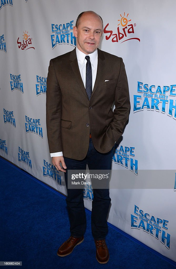Actor <a gi-track='captionPersonalityLinkClicked' href=/galleries/search?phrase=Rob+Corddry&family=editorial&specificpeople=583934 ng-click='$event.stopPropagation()'>Rob Corddry</a> attends the premiere of the Weinstein Company's 'Escape From Planet Earth' held at the Mann Chinese 6 on February 2, 2013 in Los Angeles, California.