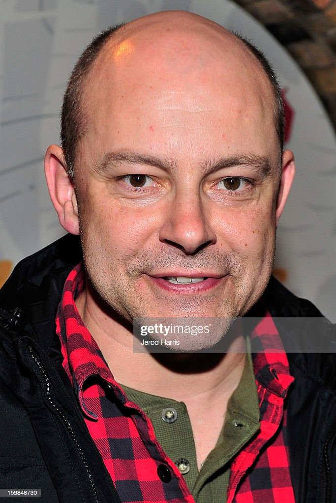 Actor Rob Corddry warms up at the McDonald's McCafe at Sundance on January 21, 2013 in Park City, Utah.