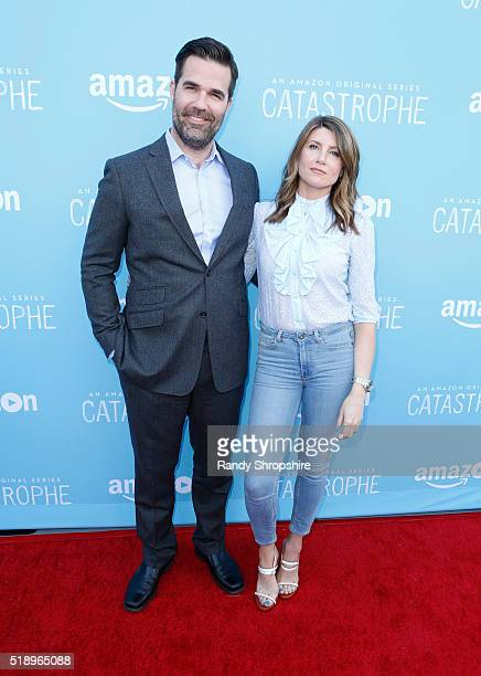 Actor Rob Delaney and actress Sharon Horgan attend CATASTROPHE Emmy FYC Screening At The London West Hollywood on April 3 2016 in West Hollywood...