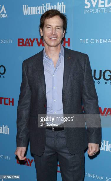 Actor Rob Huebel attends the screening of 'Baywatch' hosted by The Cinema Society at Landmark Sunshine Cinema on May 22 2017 in New York City