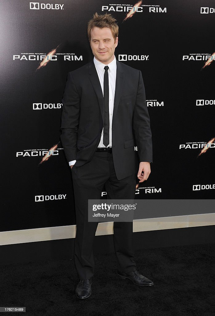 Actor Rob Kazinsky arrives at the 'Pacific Rim' Los Angeles Premiere at Dolby Theatre on July 9 2013 in Hollywood California