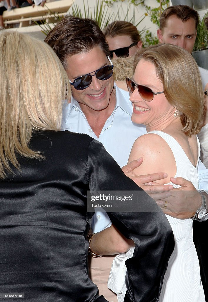 Actor <a gi-track='captionPersonalityLinkClicked' href=/galleries/search?phrase=Rob+Lowe&family=editorial&specificpeople=211607 ng-click='$event.stopPropagation()'>Rob Lowe</a> and actress <a gi-track='captionPersonalityLinkClicked' href=/galleries/search?phrase=Jodie+Foster&family=editorial&specificpeople=204488 ng-click='$event.stopPropagation()'>Jodie Foster</a> attend the Hollywood Reporter honors Jodi Foster for 'The Beaver' hosted by vitaminwater at Z Plage vitaminwater on May 18, 2011 in Cannes, France.