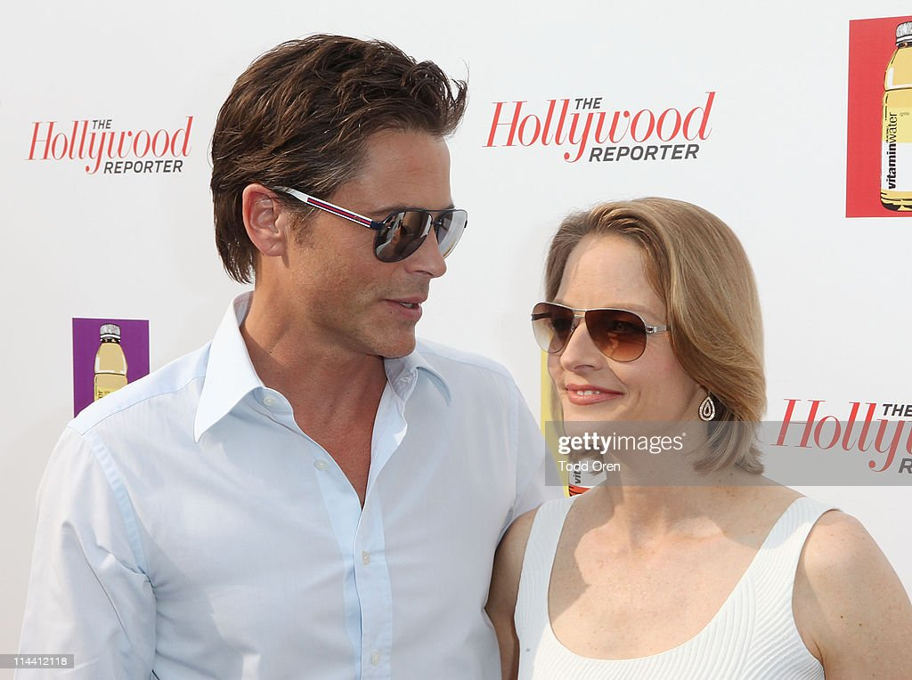 Actor Rob Lowe and actress Jodiee Foster attend the Hollywood Reporter honors Jodie Foster for 'The Beaver' hosted by vitaminwater at Z Plage vitaminwater on May 18, 2011 in Cannes, France.