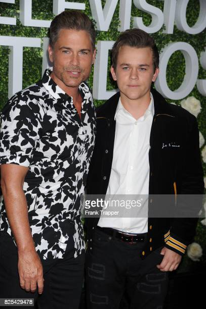 Actor Rob Lowe and Edward Lowe attend the 2017 Summer TCA Tour CBS Television Studios' Summer Soiree at CBS Studios Radford on August 1 2017 in...