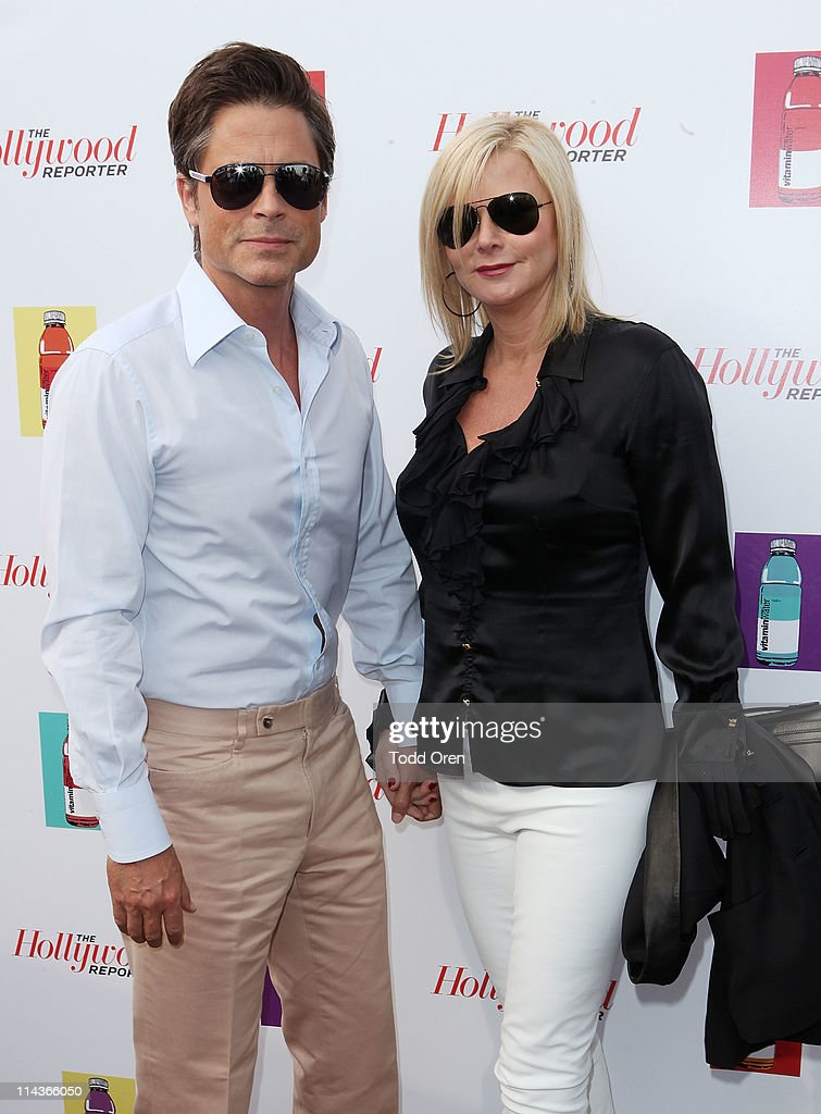 Actor <a gi-track='captionPersonalityLinkClicked' href=/galleries/search?phrase=Rob+Lowe&family=editorial&specificpeople=211607 ng-click='$event.stopPropagation()'>Rob Lowe</a> and Sheryl Berkoff attend the Hollywood Reporter honors Jodi Foster for 'The Beaver' hosted by vitaminwater at Z Plage vitaminwater on May 18, 2011 in Cannes, France.