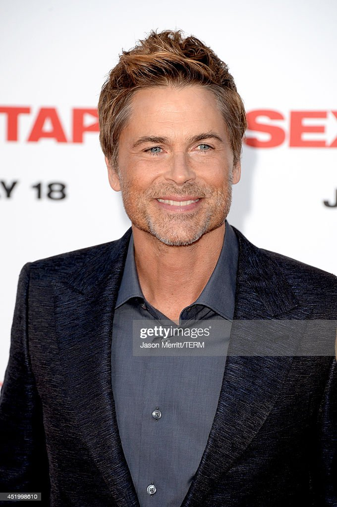 Actor <a gi-track='captionPersonalityLinkClicked' href=/galleries/search?phrase=Rob+Lowe&family=editorial&specificpeople=211607 ng-click='$event.stopPropagation()'>Rob Lowe</a> attends premiere of Columbia Pictures' 'Sex Tape' at Regency Village Theatre on July 10, 2014 in Westwood, California.