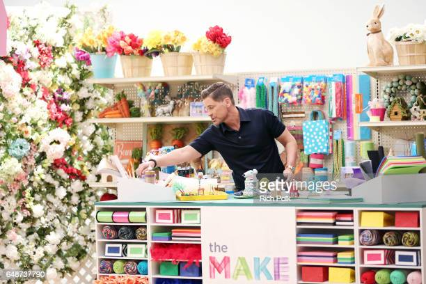 Actor Rob Lowe behind the scenes of Making with Michaels at Stage THIS on March 1 2017 in Sun Valley California
