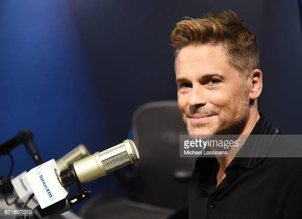 Actor Rob Lowe visits SiriusXM Studios on July 24 2017 in New York City