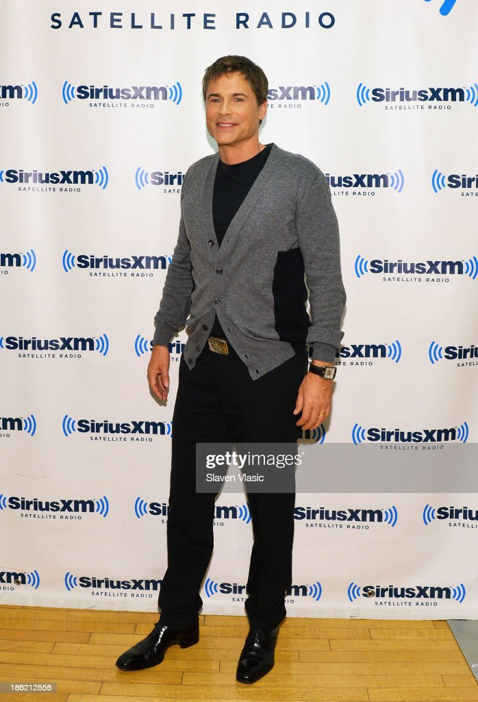 Actor <a gi-track='captionPersonalityLinkClicked' href=/galleries/search?phrase=Rob+Lowe&family=editorial&specificpeople=211607 ng-click='$event.stopPropagation()'>Rob Lowe</a> visits SiriusXM Studios on October 29, 2013 in New York City.