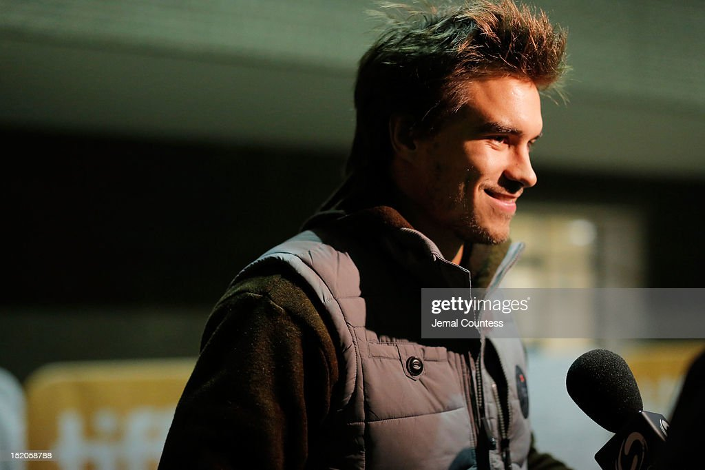 Actor Rob Mayes is interviewed as he attends the 'John Dies At The End' Premiere during the 2012 Toronto International Film Festival held at Ryerson Theatre on September 15, 2012 in Toronto, Canada.