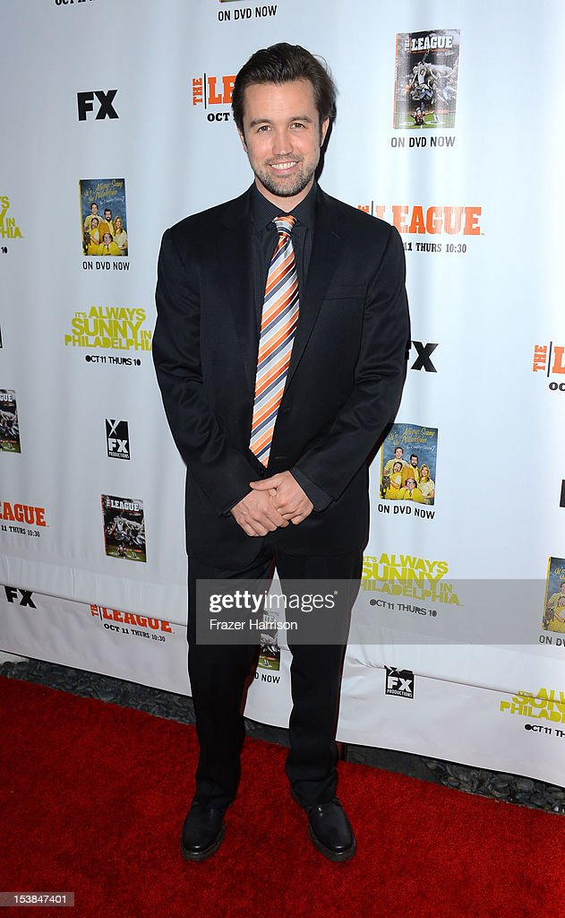 Actor Rob McElhenny arrives at the Premiere Screenings of FX's 'It's Always Sunny In Philadelphia' Season 8 and 'The League' Season 4 at ArcLight Cinemas Cinerama Dome on October 9, 2012 in Hollywood, California.