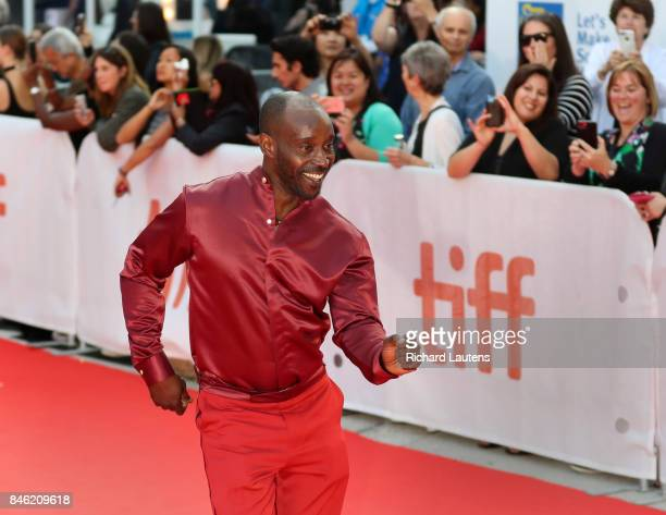 TORONTO ON SEPTEMBER 12 Actor Rob Morgan rocking' the satin MUDBOUND had a showing at Roy Thomson Hall for TIFF On the red carpet the expected guests...