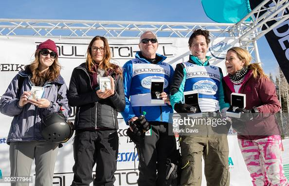 Actor Rob Morrow and teammates pose at the '2015 CBS Deer Valley Celebrity Skifest' on December 6 2015 in Park City Utah