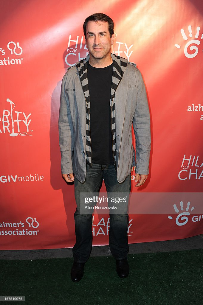 Actor <a gi-track='captionPersonalityLinkClicked' href=/galleries/search?phrase=Rob+Riggle&family=editorial&specificpeople=2789494 ng-click='$event.stopPropagation()'>Rob Riggle</a> arrives at Hilarity For Charity fundraiser benefiting The Alzheimer's Association at Avalon on April 25, 2013 in Hollywood, California.
