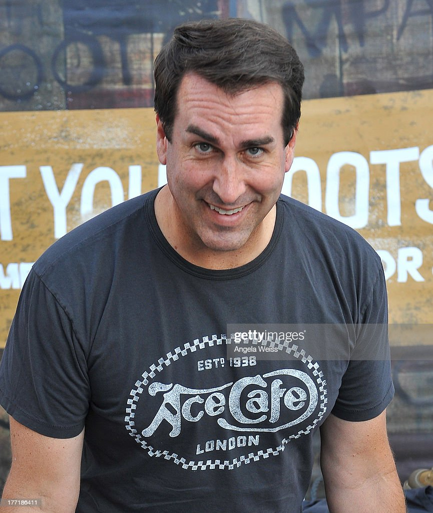 Actor Rob Riggle attends Return to the Salt with Brough Superior hosted by Jay Leno presented by Matchless and Ace Cafe at the The Petersen Automotive Museum on August 21, 2013 in Los Angeles, California.