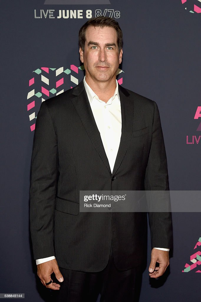 Actor <a gi-track='captionPersonalityLinkClicked' href=/galleries/search?phrase=Rob+Riggle&family=editorial&specificpeople=2789494 ng-click='$event.stopPropagation()'>Rob Riggle</a> attends the 2016 CMT Music awards at the Bridgestone Arena on June 8, 2016 in Nashville, Tennessee.