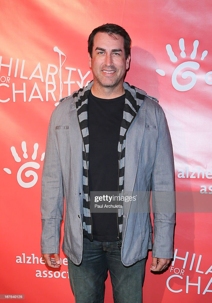 Actor <a gi-track='captionPersonalityLinkClicked' href=/galleries/search?phrase=Rob+Riggle&family=editorial&specificpeople=2789494 ng-click='$event.stopPropagation()'>Rob Riggle</a> attends the 2nd annual Hilarity for Charity Event at Avalon on April 25, 2013 in Hollywood, California.