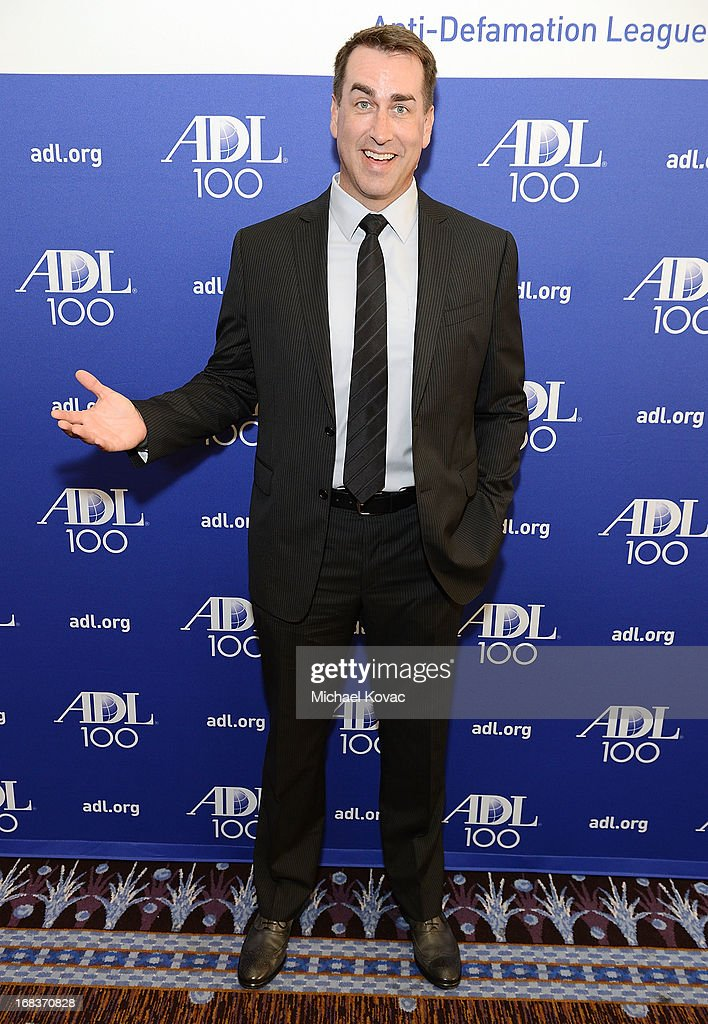 Actor <a gi-track='captionPersonalityLinkClicked' href=/galleries/search?phrase=Rob+Riggle&family=editorial&specificpeople=2789494 ng-click='$event.stopPropagation()'>Rob Riggle</a> attends the Anti-Defamation League Centennial Entertainment Industry Awards Dinner Honoring Jeffrey Katzenberg at The Beverly Hilton Hotel on May 8, 2013 in Beverly Hills, California.