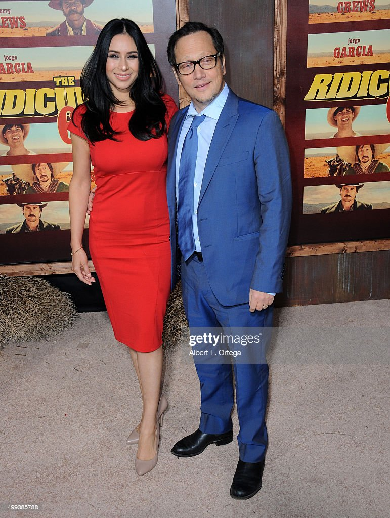 Actor Rob Schneider and wife Patricia Maya arrive for the premiere of Netflix's 'The Ridiculous 6' held at AMC Universal City Walk on November 30, 2015 in Universal City, California.