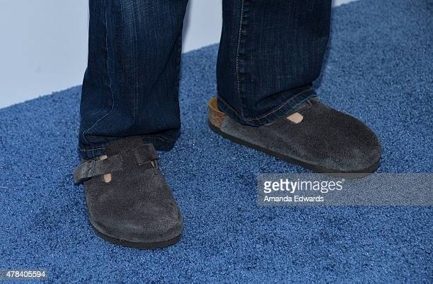 Actor Rob Schneider shoe detail arrives at the world premiere of 'Joe Dirt 2 Beautiful Loser' hosted by Crackle at Sony Studios on June 24 2015 in...