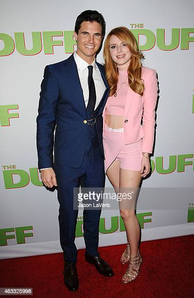 Actor Robbie Amell and actress Bella Thorne attend the premiere of 'The Duff' at TCL Chinese 6 Theatres on February 12 2015 in Hollywood California