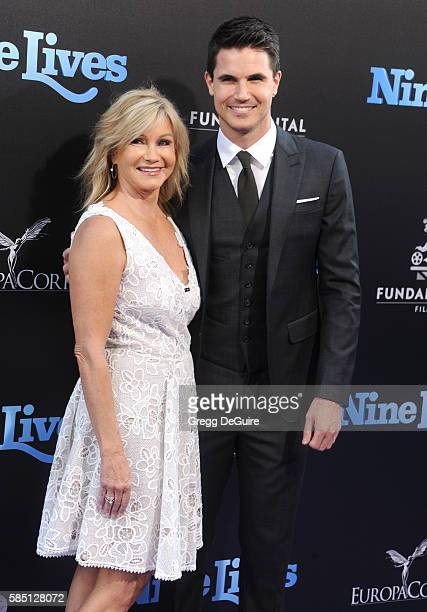 Actor Robbie Amell and mom Jennifer Amell arrive at the premiere of EuropaCorp's 'Nine Lives' at TCL Chinese Theatre on August 1 2016 in Hollywood...