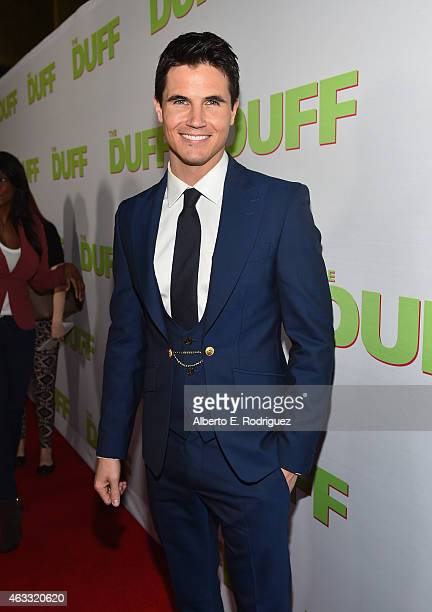 Actor Robbie Amell attends a Fan Screening of CBS Films' 'The Duff' at the TCL Chinese 6 Theatres on February 12 2015 in Hollywood California