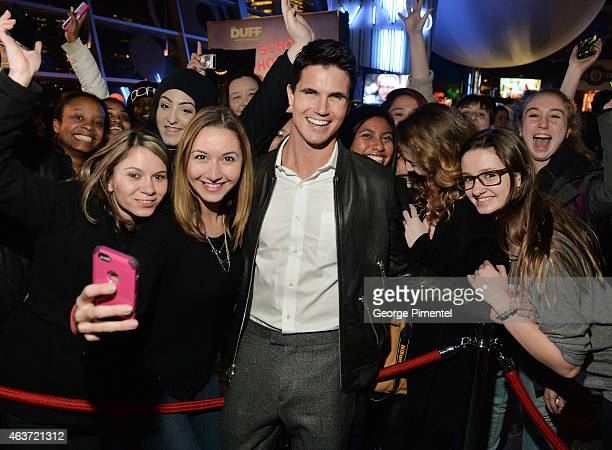 Actor Robbie Amell attends the Canadian Premiere of 'The Duff' at Cineplex Scotiabank Theatre on February 17 2015 in Toronto Canada