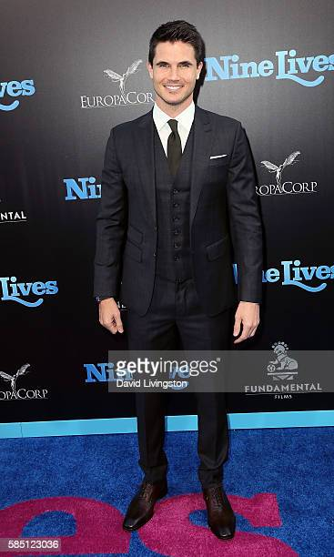 Actor Robbie Amell attends the premiere of EuropaCorp's 'Nine Lives' at the TCL Chinese Theatre on August 1 2016 in Hollywood California