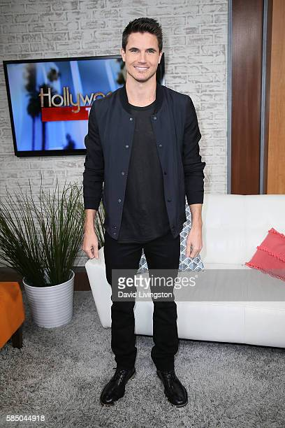 Actor Robbie Amell visits Hollywood Today Live at W Hollywood on August 1 2016 in Hollywood California